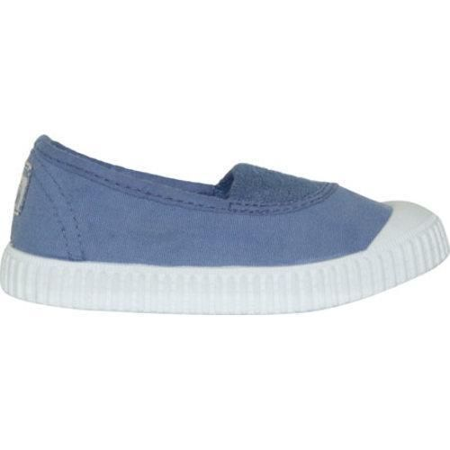 Children's Victoria Salon Lona Tintada Elastico Slip-On Azul