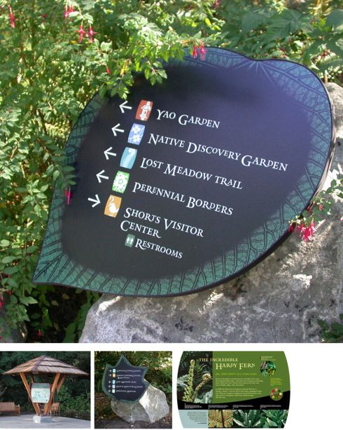 People Silhouettes Architecture Wayfinding   Google Search · Garden Labels Direction SignsLabel DesignBotanical ...
