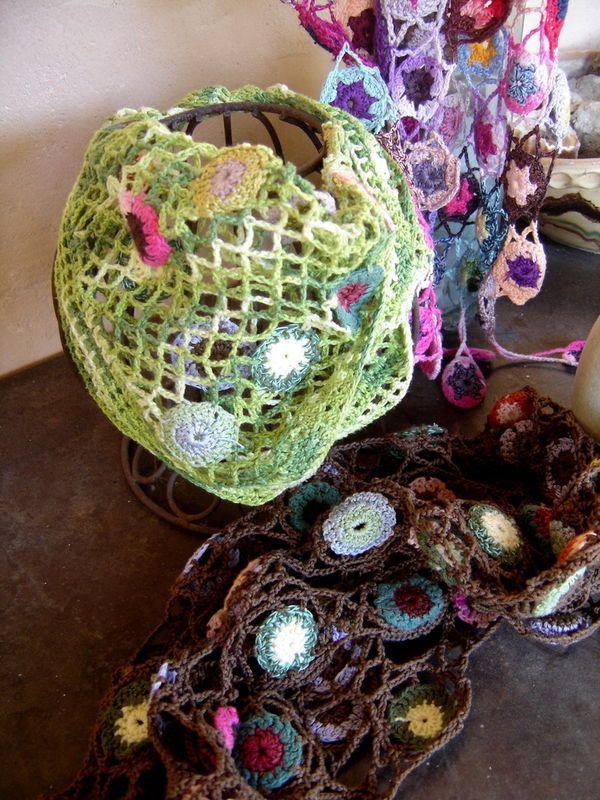 Connecting crochet motifs with crochet netting | Fiber Art Crochet ...