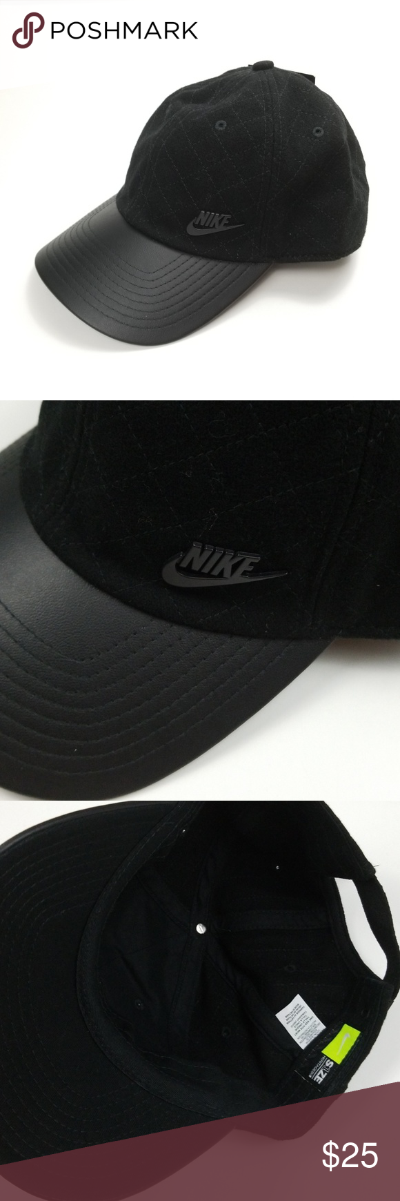 f39d7e82311 Nike quilted top baseball  dad hat. One size fits most. Faux leather  detail. Bundle up! Offers always welcome! Nike Accessories Hats