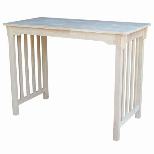 Dining Unfinished 48-Inch Wide Counter Height Mission Style Table