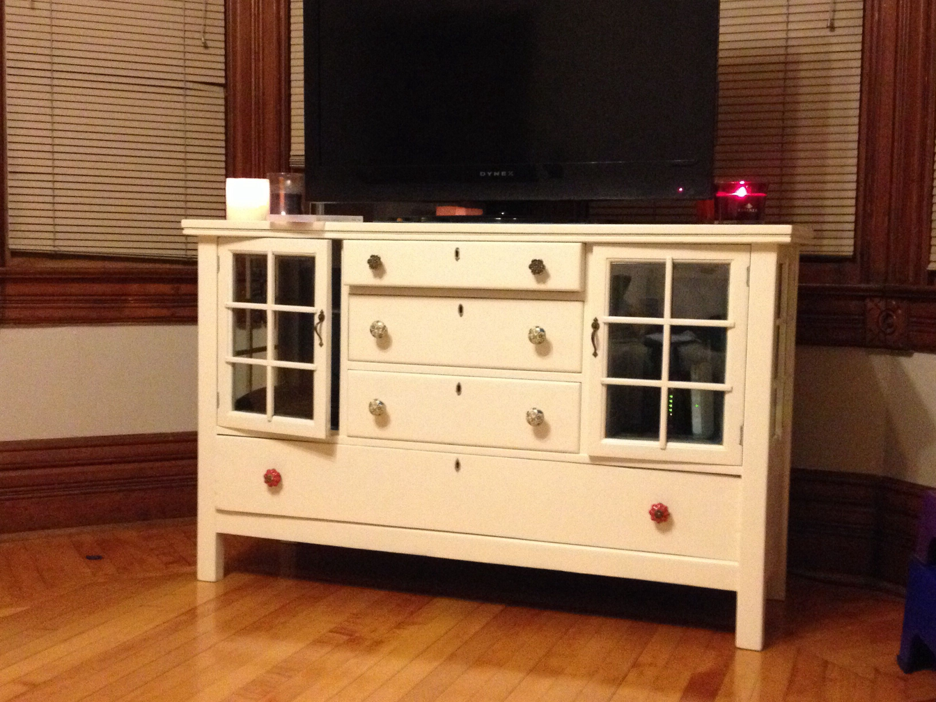 Old hutch stripped, sanded, and painted!!!
