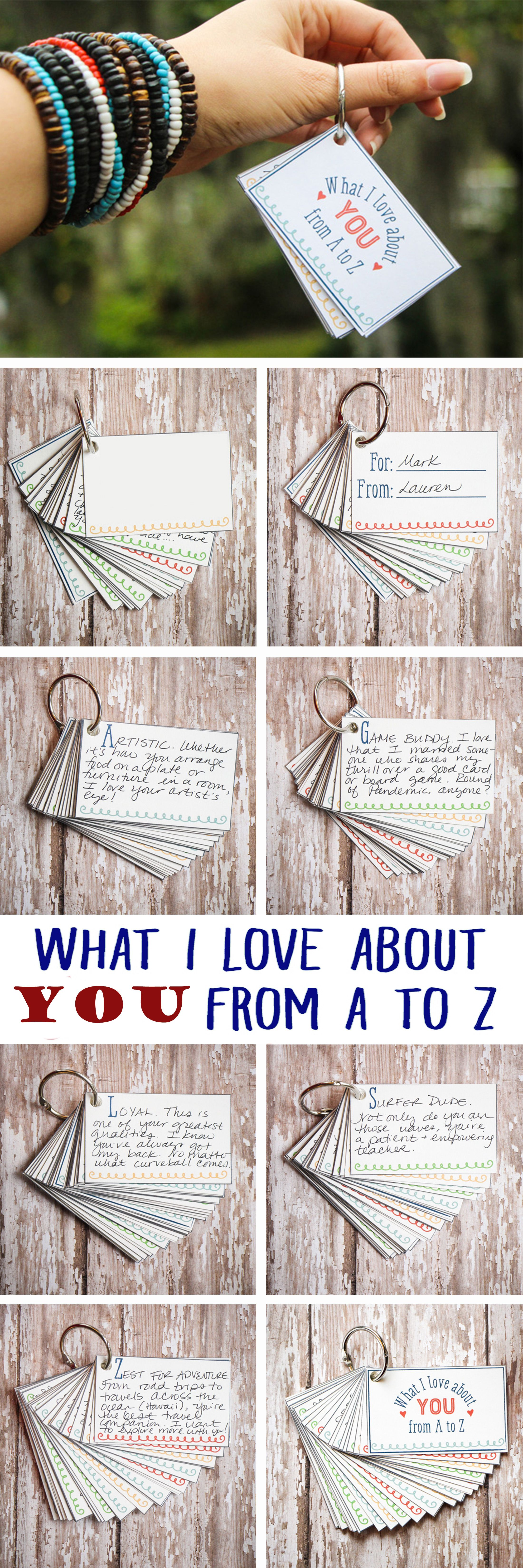 i love about you from a to z mini-book | boyfriend gift ideas | diy