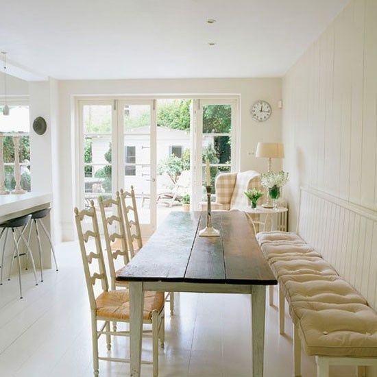 A Study In Checks Narrow Dining Tables Kitchen Table Bench Home