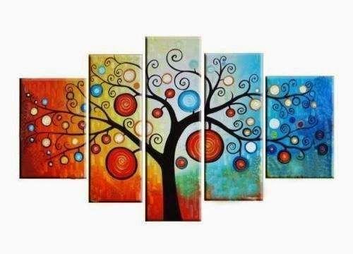 Cuadros Arbol De La Vida Abstractos Tamanos Grandes Oferta 1 700 00 Cuadro Abstractos Cuadros Pintados A Mano Pinturas