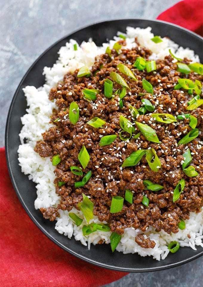 Instant Pot Korean Ground Beef Bulgogi Has Incredible Flavor Use Korean Ground Be Instant Pot Dinner Recipes Healthy Instant Pot Recipes Instant Pot Recipes