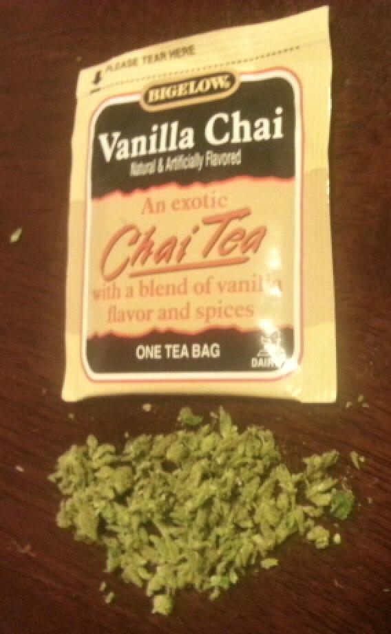 Broken Up Underneath A Chai Tea Bag