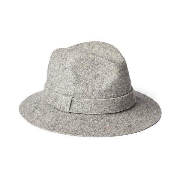 Gap Women Flat Brim Wool Fedora ( 40) ❤ liked on Polyvore featuring  accessories f1f44a8d818