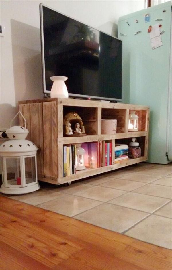 abbastanza DIY Pallet #TV #Stand - Media #Console Table | 101 Pallets  HJ31