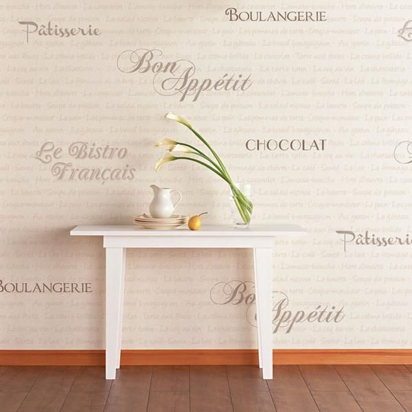French Bistro Lettering Stencil Set  Stencils For Walls Kitchen Interesting Kitchen Stencil Designs Design Ideas