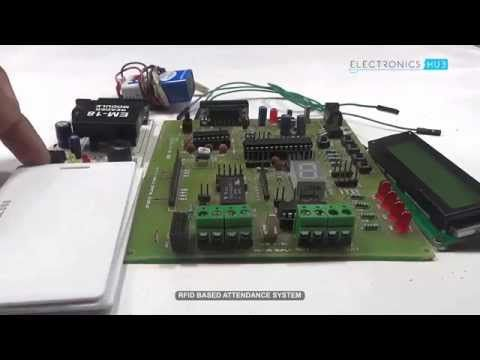 This is a simple RFID based attendance system circuit