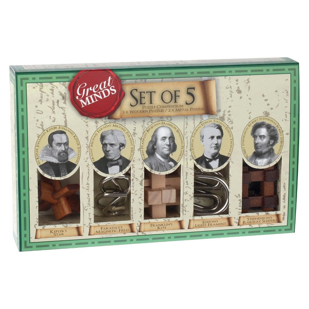 Great Minds Set of 5 Puzzle Games Novelty gifts, Office