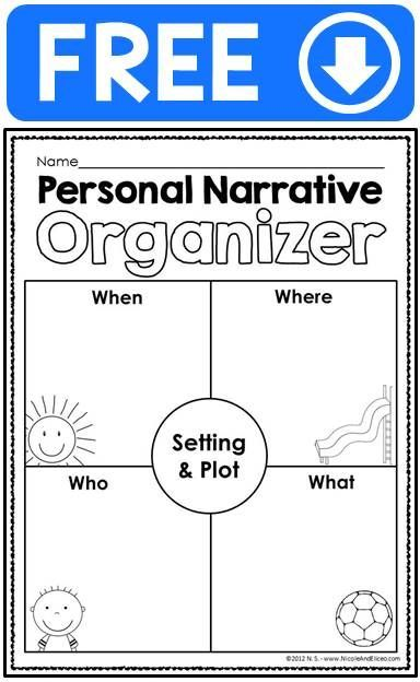 FREE personal narrative ideas chart, writing checklist, graphic ...