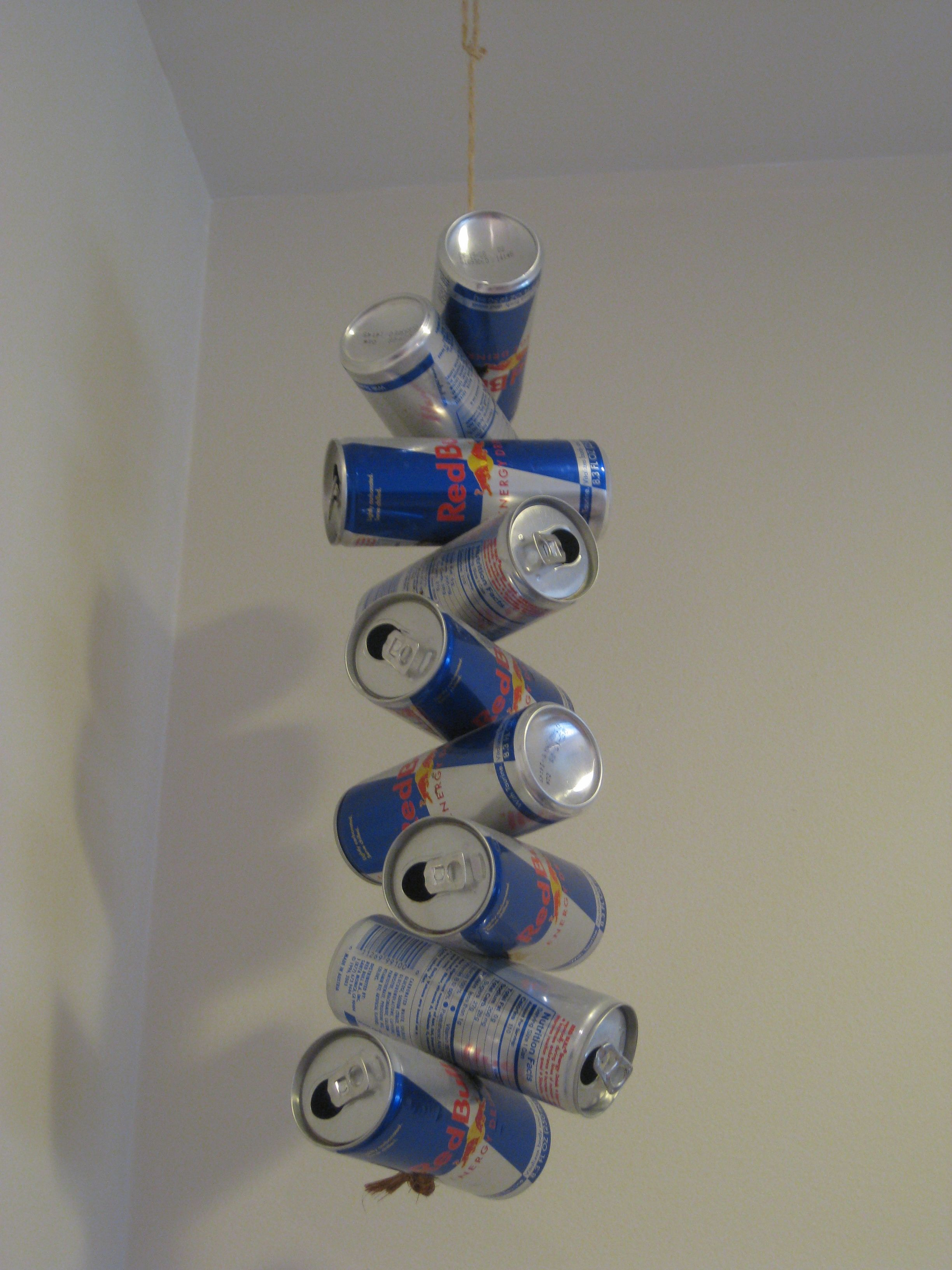 The boys Red Bull mobile./ or any favorite drink can! For The Man Cave!!