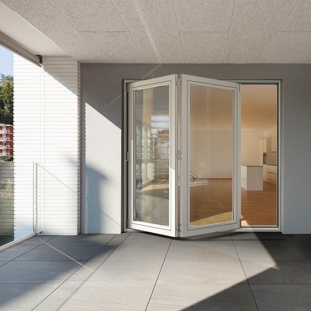 Jeld Wen 70 In X 77 In F 2500 Lhf White Painted Fiberglass Left Hand Folding Patio Door Frame With In 2020 Folding Patio Doors Patio Doors Double Sliding Patio Doors