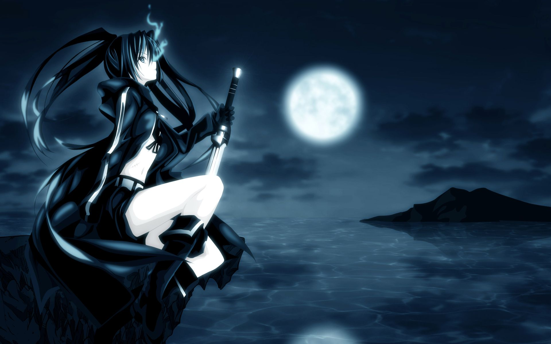 nightcore nightcore heartbeat photo black rock shooter anime wallpaper