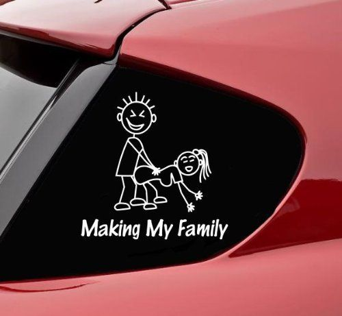 Bumper sticker making my stick figure family funny vinyl decal bumper sticker amazon ca