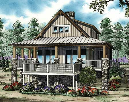 Plan 59964ND Low Country Cottage House Plan Low deck Cottage