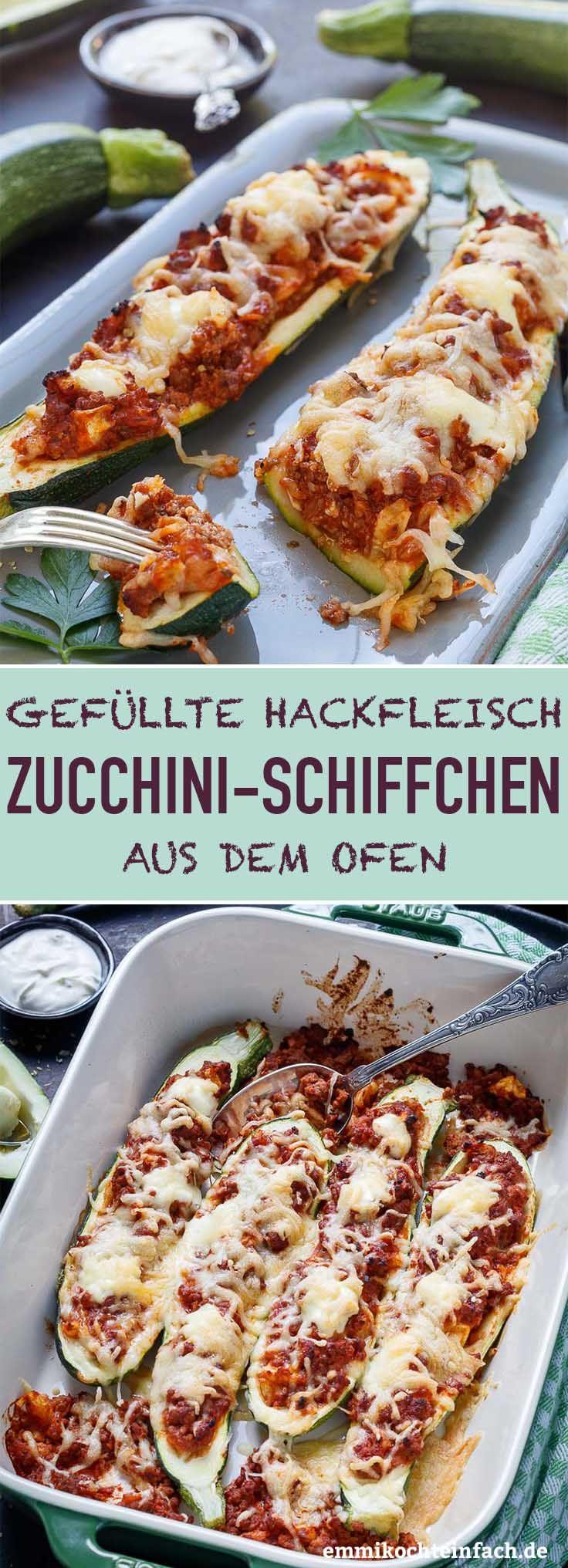 Photo of Gefüllte Zucchini Schiffchen mit Hackfleisch – emmikochteinfach