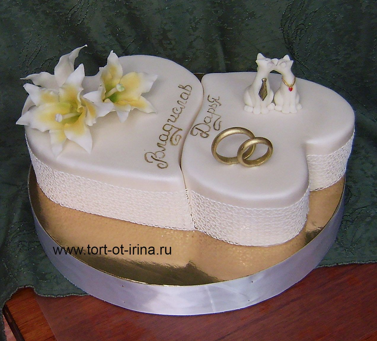 Фотография (With images) | Heart shaped wedding cakes ...
