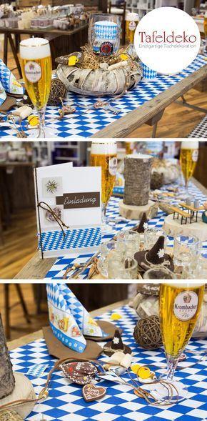 Feiern Sie Ihren Geburtstag Mit Einer Bayrischen Tischdeko Und