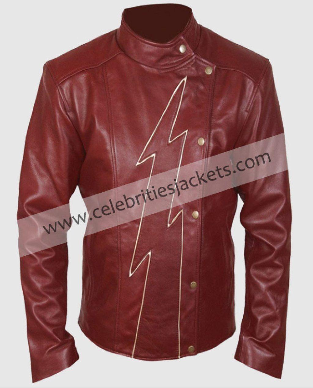Flash Season 2 Jay Garrick Teddy Sears Barry Allen Maroon Jacket