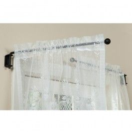 Wrought Iron Curtain Crane Set With Images Curtains Wrought