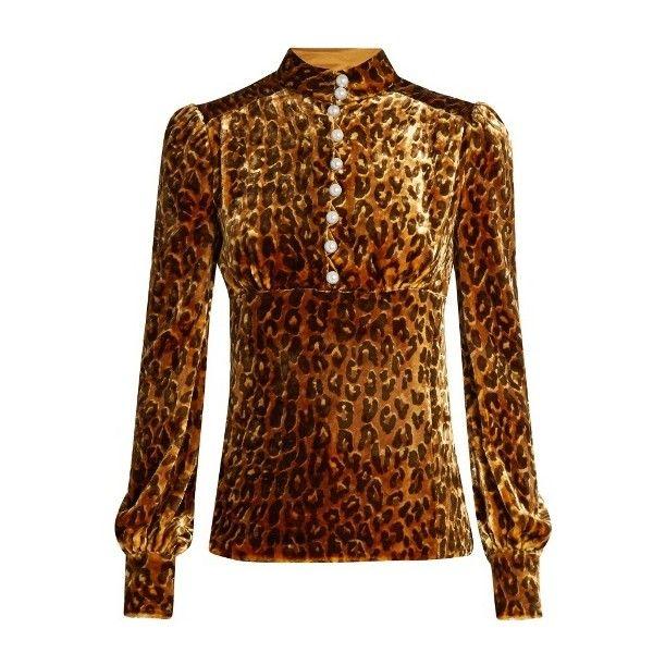 Hillier Bartley Leopard Print Velvet Blouse ($927) ❤ liked on Polyvore featuring tops, blouses, velvet top, leopard print top, brown blouse, leopard top and leopard blouse