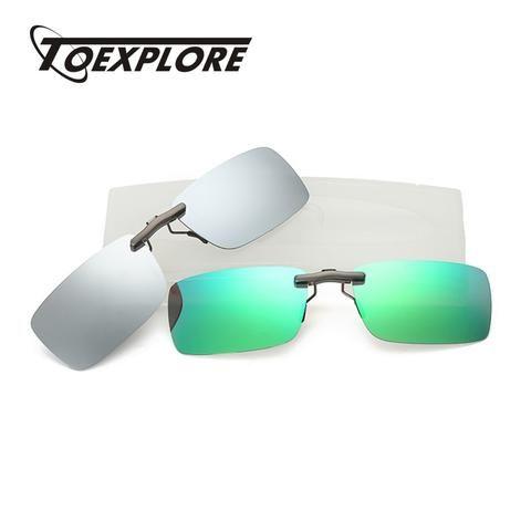 58c9088f876 TOEXPLORE Square Polarized Clip On Myopia Glasses Women Men Anti-Glare Sun Glasses  Driving Outdoor Goggles Eyewear Fishing UV400
