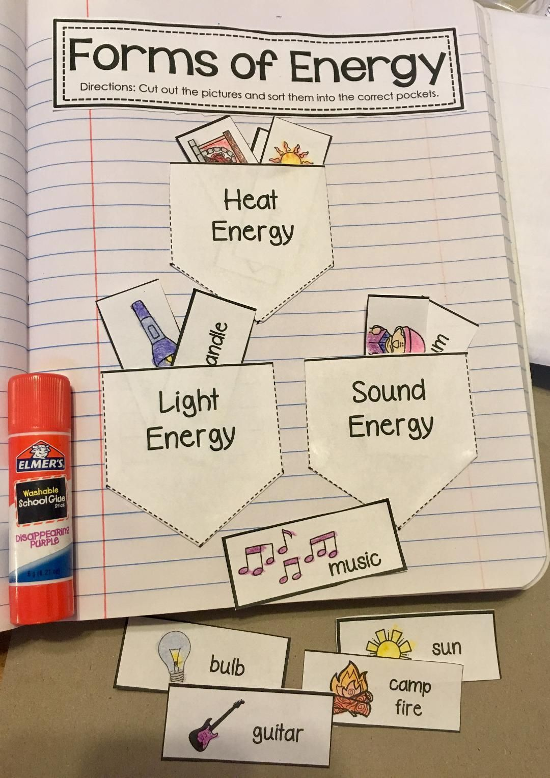 Forms Of Energy Heat Light And Sound Science Notebook Activity Students Will Sort The Different Examples Science Notebooks Science Notebook Science Projects [ 1527 x 1080 Pixel ]
