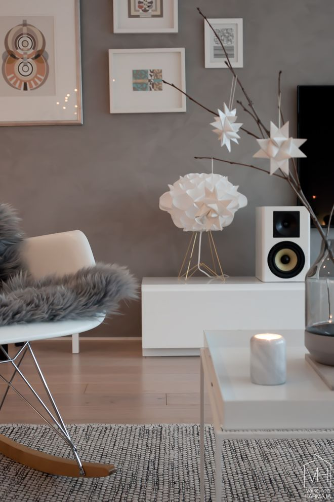 Warm grey, timber, white.
