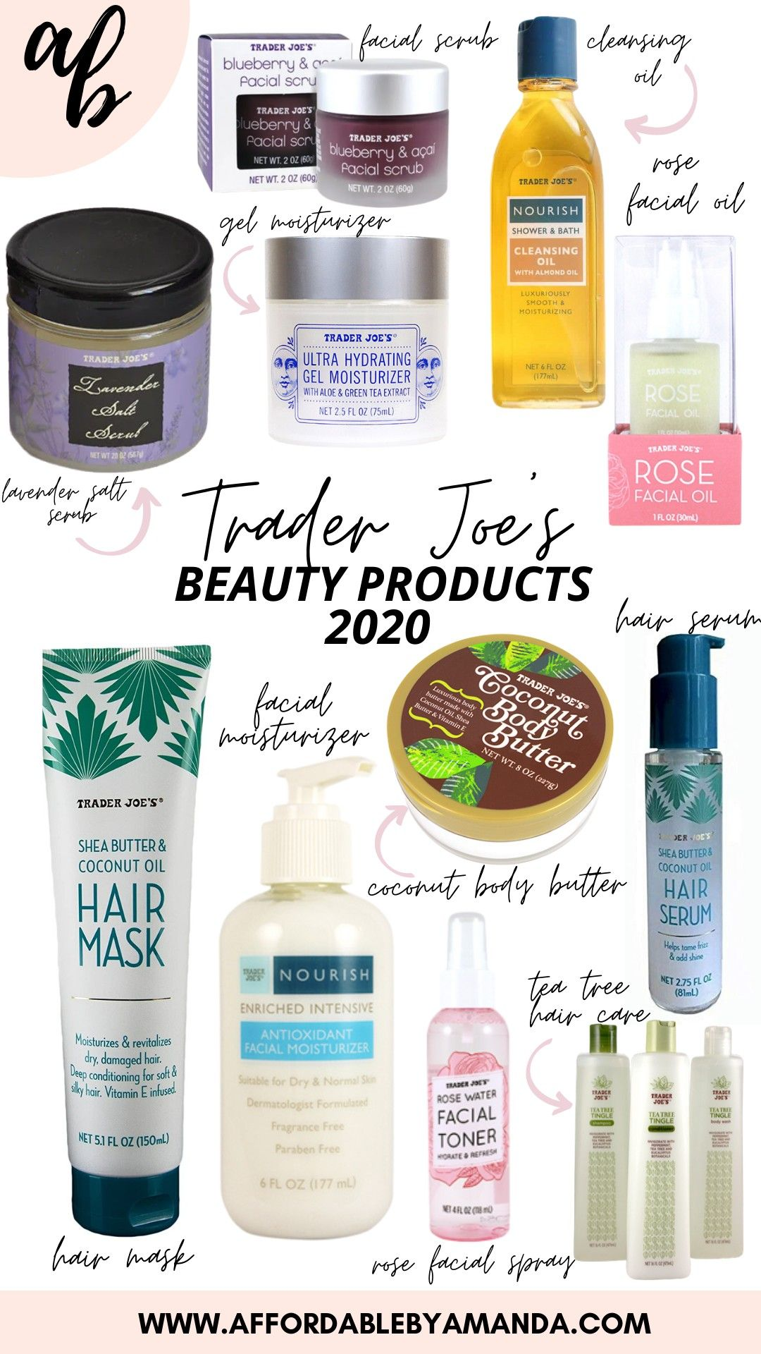 Best Beauty Products From Trader Joe S 2020 Trader Joe S Best Products Trader Joes Beauty Products Drugstore Cheap Skin Care Products