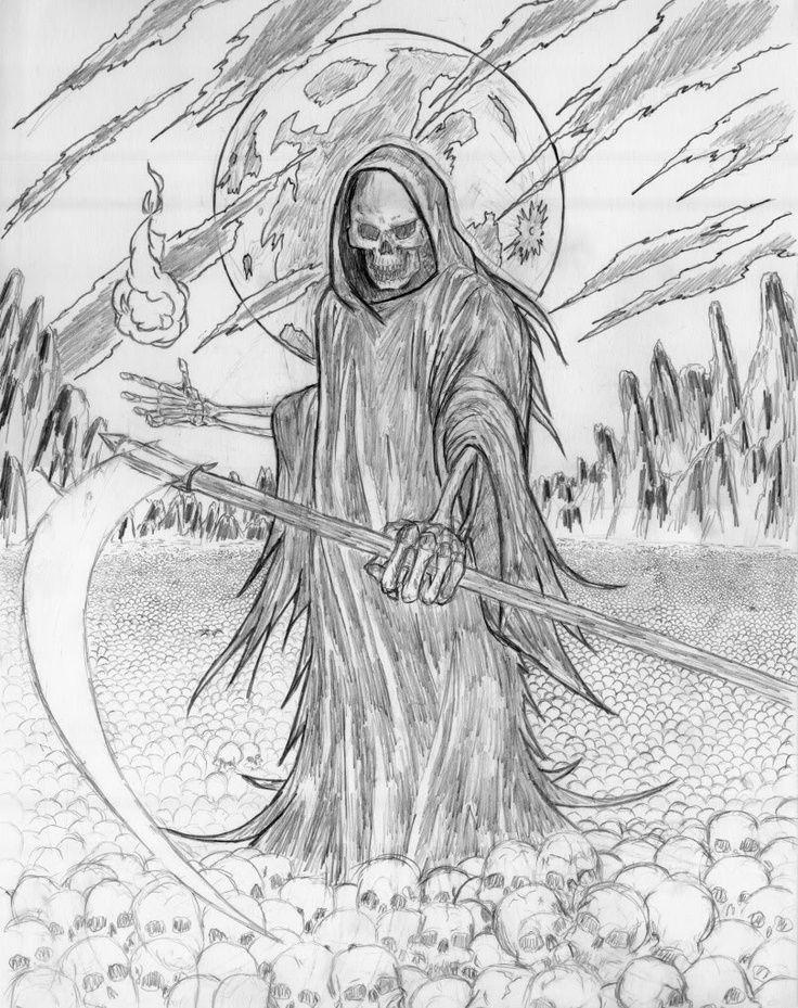grim reaper coloring sheets grim reaper wip Coloring