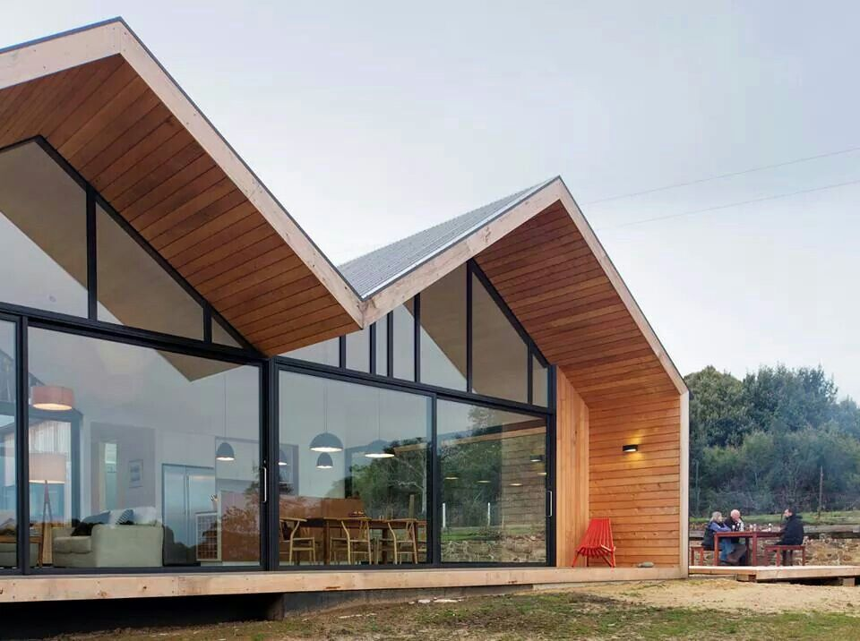 Room 11 architects, beautiful roof line detail Gable