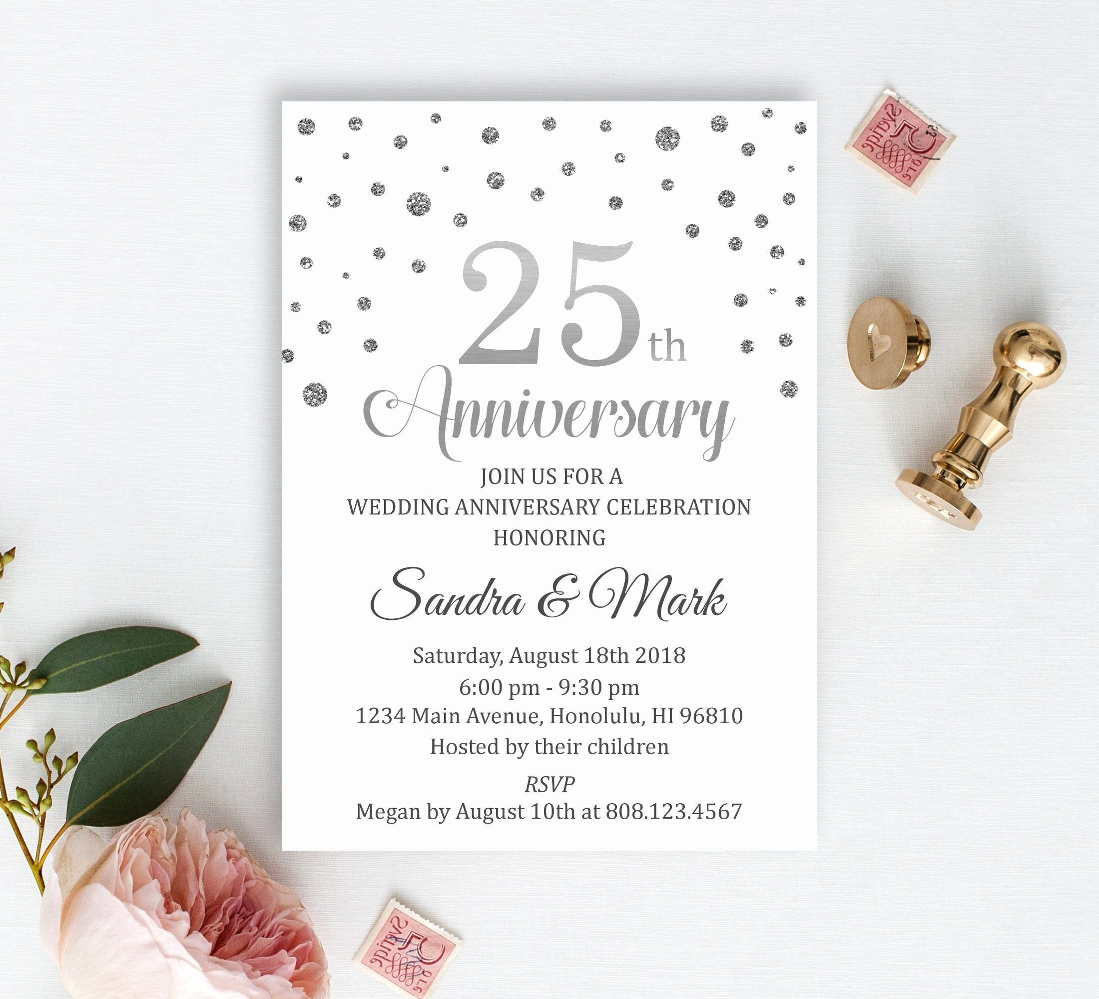 First Wedding Anniversary Invitation Cards 1st Marriage Card