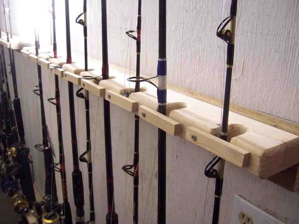 Wall Mount Rod Holders Wall Mount Wall Wood Projects