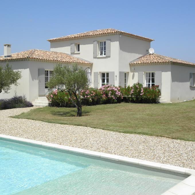 Villa proven ale avec piscine projet maison pinterest for Modele maison californienne
