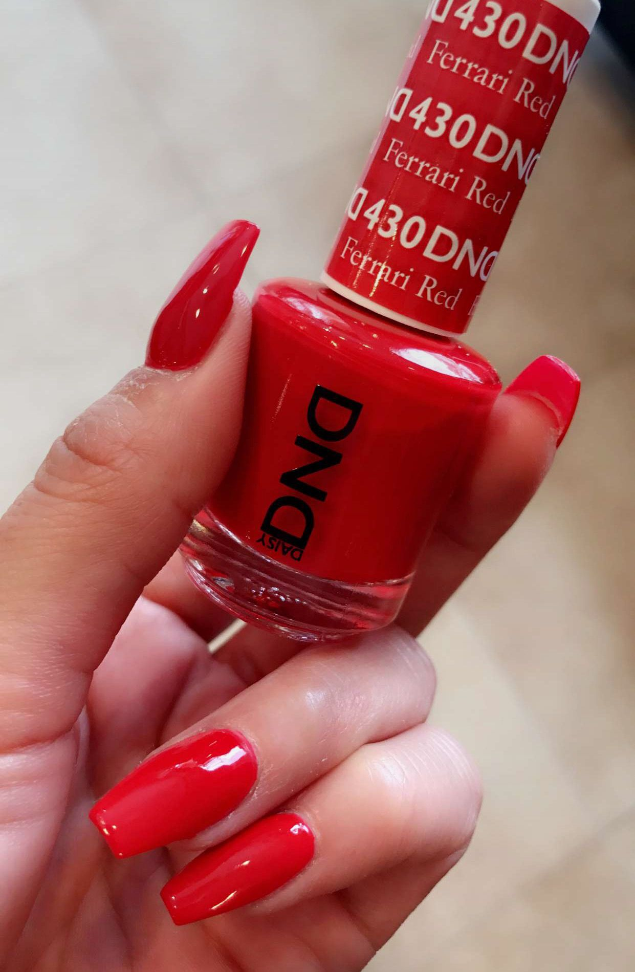 Dnd Daisy Ferrari Red Christmas Color Red Gel Nails Red Nails Dnd Nail Polish