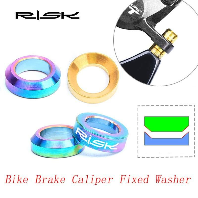 Risk M6 Titanium Brake Caliper Bolt Mountain Bike Screws Spacer Assembly Fitting