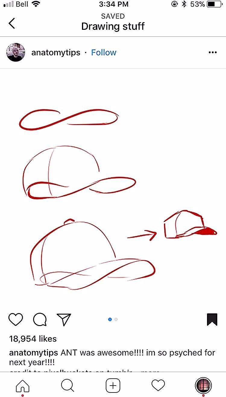 How To Draw A Capped Hat Cap Drawing Drawings Art Drawings