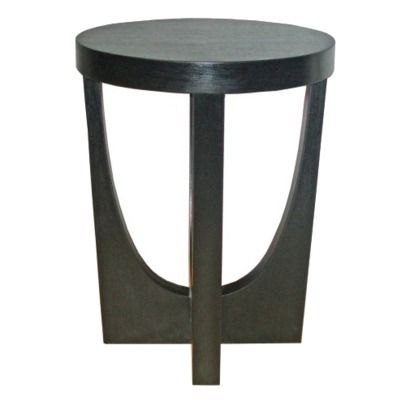 Modern Side Table Black To Go Between Chaises In Master Bedroom