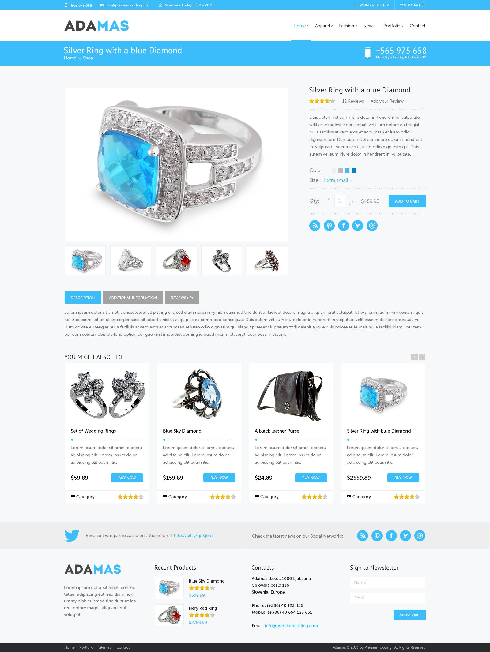 Adamassingleproductpagejpg Product Pages - Single product ecommerce template