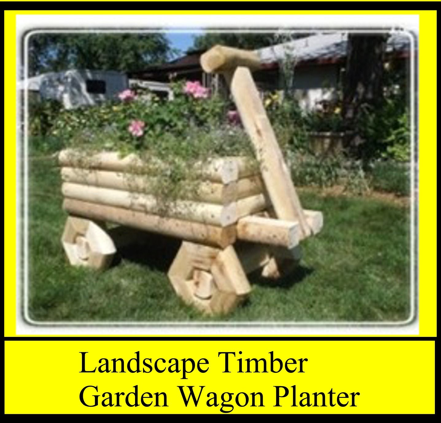 Landscape Timber Garden Wagon Planter