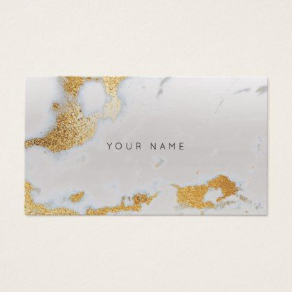 Abstract Gold Silver Gray Marble Metallic Stylist Business Card