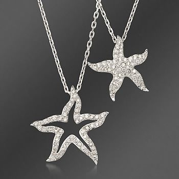 Swarovski crystal double starfish pendant with chain in clear swarovski crystal double starfish pendant with chain in clear crystal 15 aloadofball Image collections