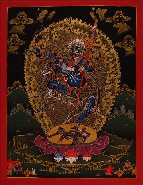 dakini   Simhavaktra Dakini (senge Dongchenma) hilft beim