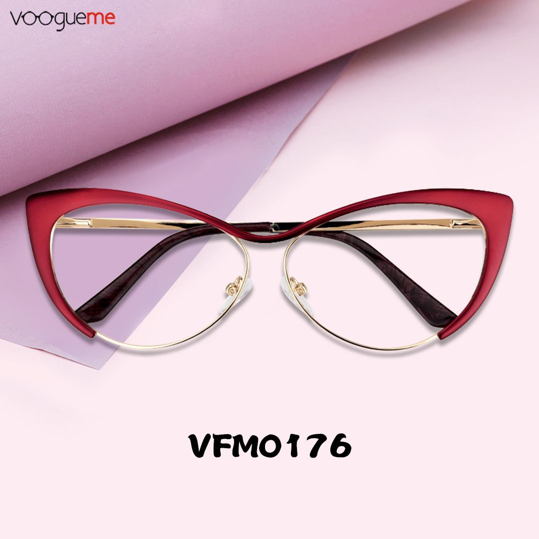 2fd9d79105 Annabelle Red Cat Eye Glasses The glasses are made of high quality metal  and the temple legs are made of acetate.Intoxicating wine red let you fall  in love ...