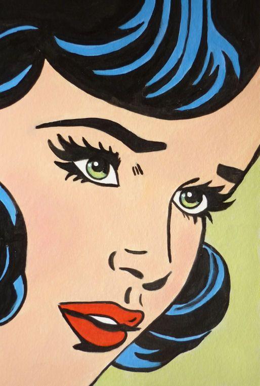 Julies Retro Art Page Comic Girl Postcards Pop Art Comic Retro Comic Art Retro Art
