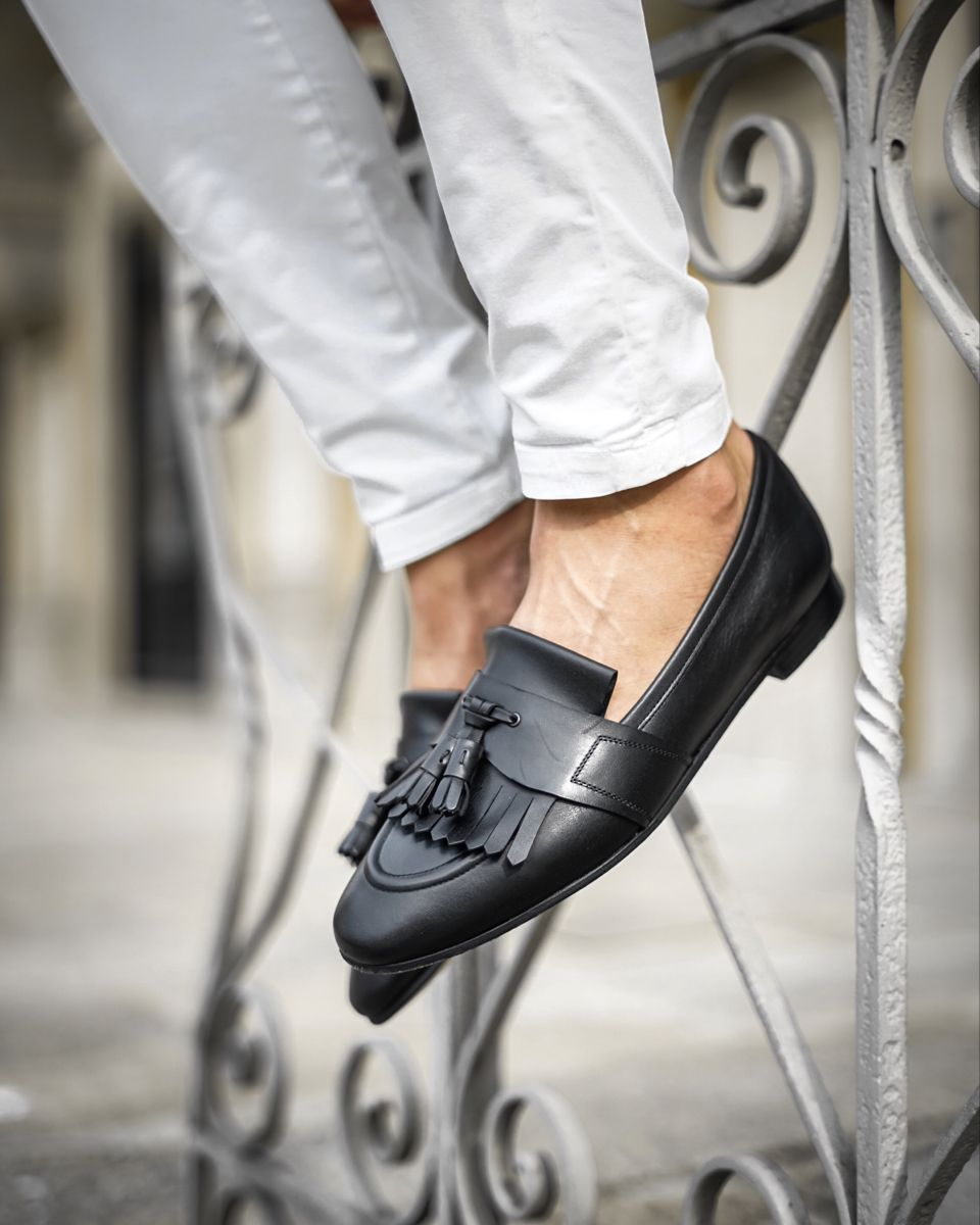 Romeo Toledo Black Loafers Black Loafers Loafers Dress Shoes Men [ 1200 x 960 Pixel ]