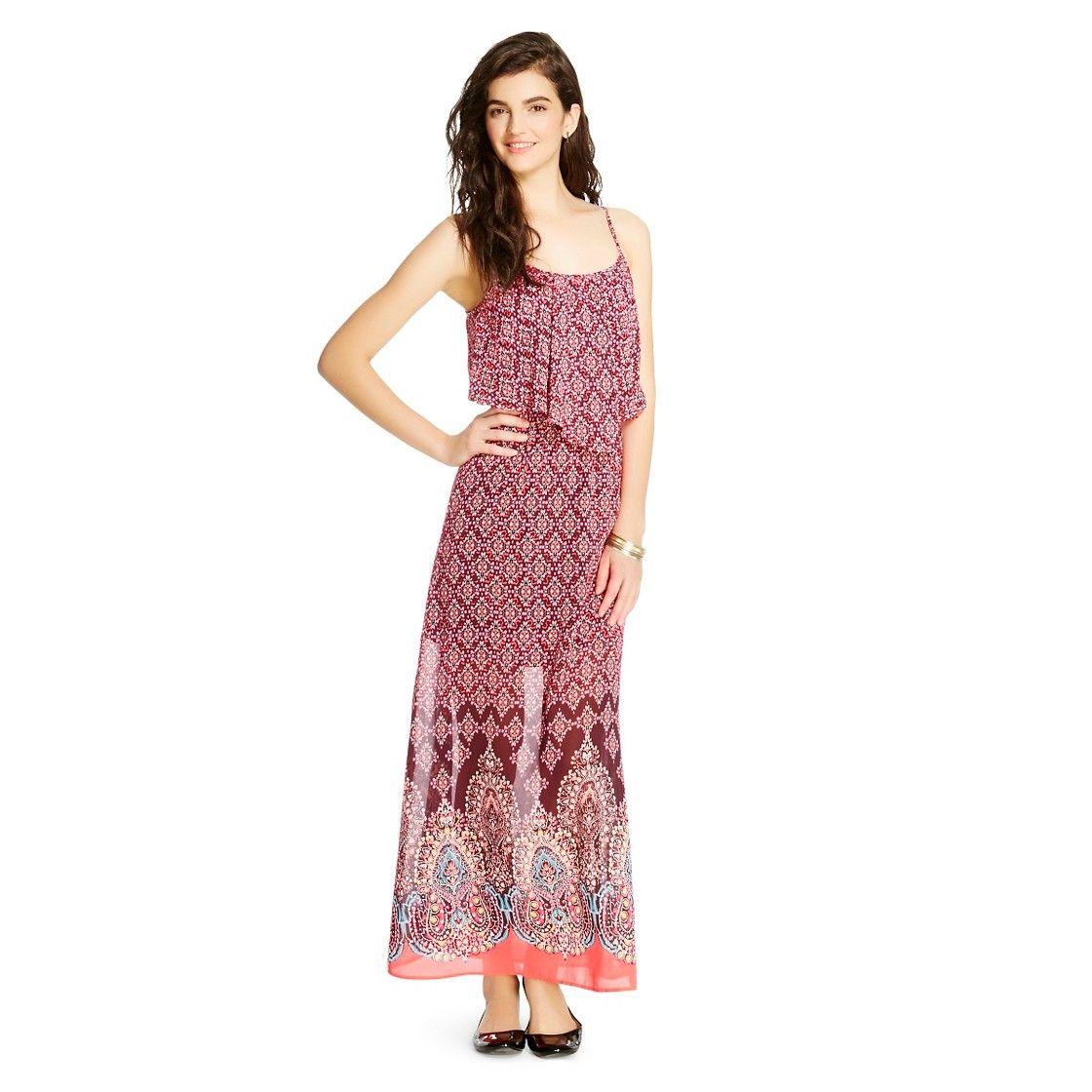 Handkerchief Popover Maxi Dress Xhilaration Maxi Dress Fashion Outfits Dresses [ 1120 x 1120 Pixel ]